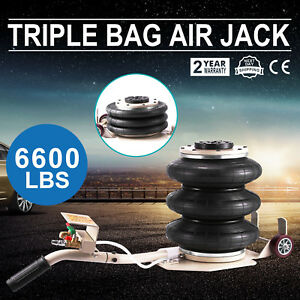 6600lb Triple Bag Air Bag Jack 3 Ton Jack Pneumatic Air Jack With Folding Handle