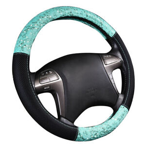Car Steering Wheel Covers Lace Material Green Color For Girls Fit Universal Cars