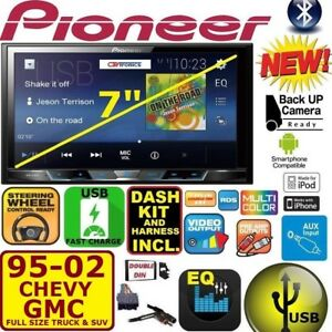 95 02 Gm Truck suv Pioneer Touchscreen Bluetooth Usb Double Din Car Stereo Radio