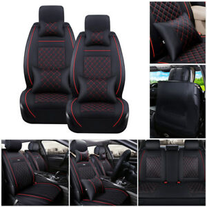 100 Pu Leather Seat Cover Us 5 Seats Car Suv Front Back Cushion W Pillows Sizel