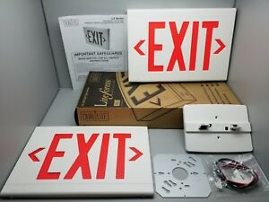 New Hubbell Dual Lite Lxurwe Lite Forms Thermoplastic Led Exit Sign 120 277 Vac