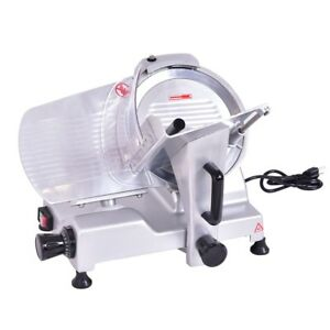 10 Blade Semi auto Meat Slicer Deli Meat Cheese Food Commercial Machine Home Us