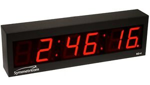 New Symmetricom Nd 4 Ntp Internet Ip Synchonized Red Led Wall Clock Ethernet Nd4