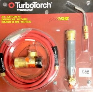 Turbotorch Professional Air Acetylene Kit X 5b Brand New