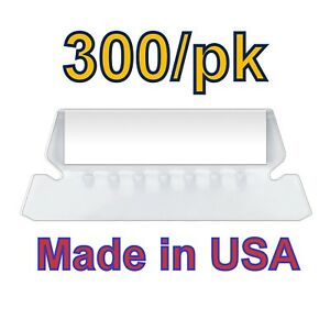 300 Pack Hanging Folder Tabs And Inserts 2 Made In Usa clear