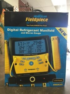 Fieldpiece Sman360 Digital Refrigerant Manifold And Micron Gauge New lam015761