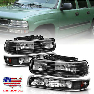 For 1999 2002 Chevy Silverado Bumper Light Clear Corner Headlight Upper lower