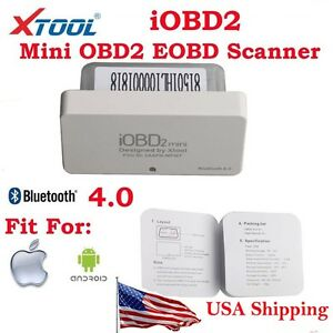 From Usa Xtool Iobd2 Mini Obd2 Eobd Code Reader Bluetooth 4 0 For Ios Android