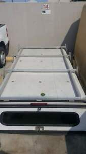 Utility Camper Shell With 2 Side Cabinets Roof Rack For 8ft Truck Bed Shells Cap
