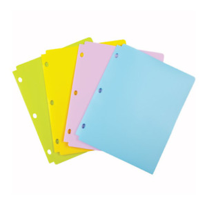 New Wilson Jones Tinted View Snap Folders For Binders 24pk Free Shipping