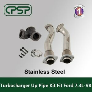7 3l Ford Powerstroke 99 5 03 Bellowed Turbo Diesel Exhaust Up Pipes