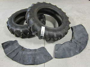 2 New 13 6x28 Tractor Farm Tires Innertubes 8 Ply 13 6 28 R1 Tread 13 6 28 Ag