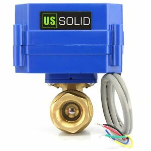 3 4 Brass Motorized Electric Ball Valve 9v 12v To 24v Dc 5 Wire Setup