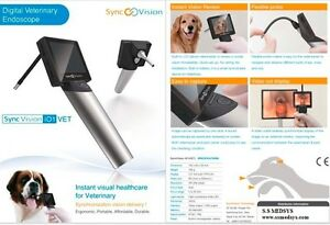 New Veterinary Video Otoscope Endoscope Animal Examination Tool