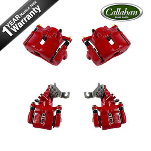 Front And Rear Red Brake Calipers For 2004 2005 2006 2007 2008 Accord Tsx