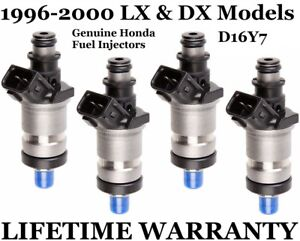 Oem Honda Set Of 4 Fuel Injectors For 96 97 98 99 00 Civic Lx Dx d16y7