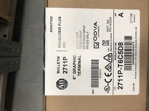 Allen bradley 2711p t6c5d8 Operator Interface 5 7 Color Display Touch Screen