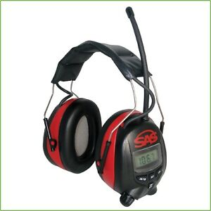 Digital Hearing Noise Sound Protector Headphones Ear Muff Am Fm Audio Lcd Tuner