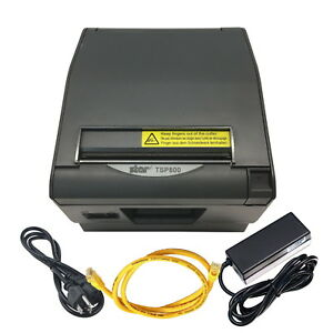 Star Tsp800 Thermal Ethernet Wide Label pos Printer W Power Supply