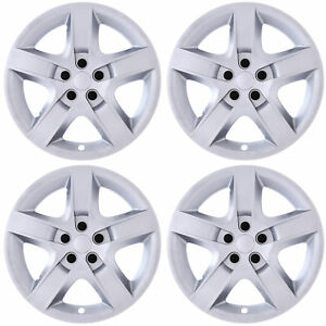 4pc Set Fits 17 Inch Silver 5 Spoke Hub Cap Rim Steel Wheel Skin Lug Full Cover