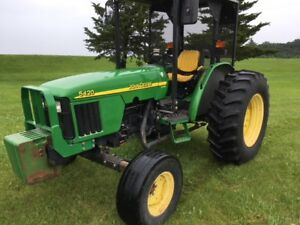 2002 John Deere 5420 Compact Utility Tractor 2364 Hours Former Municipality