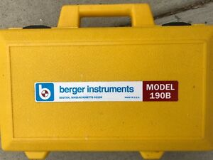 Cst berger Model 190b Builders Level Package With Berger Tripod Leveling Rod