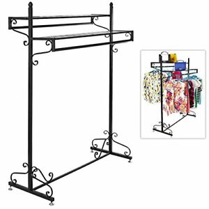 Victorian Style Boutique Clothes Garment Display Rack W Dual Hangrail