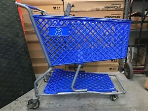Toy R Us Exclusive Plastic Retail Shopping Cart Very Rare Geoffrey Giraffe Blue