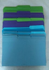 File Folders Legal Size 1 3 Tab 14 X 9 1 2 Assorted Colors Lot Of 100