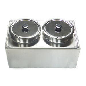 110v Commercial 2 Pan Chili And Cheese Warmer Food Warmer Restaurant Equipment