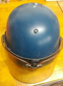 Vintage Police Riot Gear Helmet With Face Shield guard