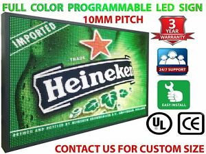 Indoor Window Led Sign 13 X 25 Full Color 10mm Hd Board Scrolling Logo Message
