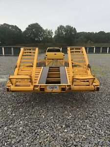 1987 Hdsn Heavy Duity Equipment Trailer 13 Ton Deckover 30 40 000 Weight Capcty