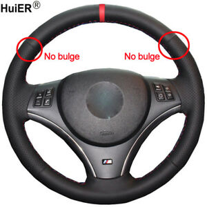 For Bmw E90 320i 325i 330i 335i E87 120i 120d Hand Sew Car Steering Wheel Cover