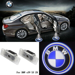 2x Led Door Step Welcome Courtesy Light Shadow Logo Projector Bmw E39 E53 E52 Z8