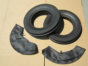 2 New 4 00x12 Tri tread Front Tires Innertubes Fit 154 Cub Ih Lo Boy 184 185