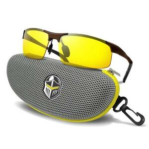 Blupond Night Driving Glasses Safety Anti glare Hd Vision titanium Yellow New