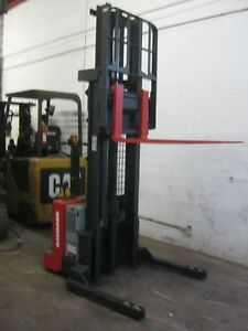2010 Raymond Rss40 W 2016 24v Battery Built in Charger Walkie Stacker Forklift