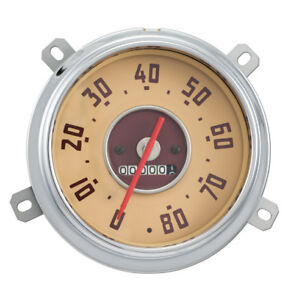 1949 1950 1951 Gmc Truck Speedometer Assembly 80mph Red Needle New