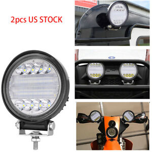 Led Work Light Bar 6 Inch 144w Fog Driving Round Lamp Suv Offroad Jeep Hummer