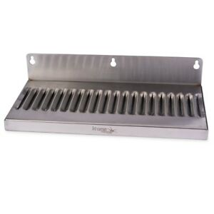 Draft Beer Drip Tray Wall Mount No Drain Stainless Steel 12 X 6 Kegerator