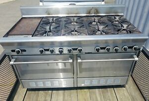 Us Range Commercial Gas Oven 8 Burner Stove With Griddle
