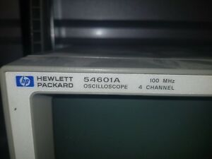 Hp Agilent 54601a 4 channel 100 Mhz Oscilloscope Very Clean