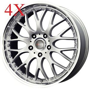 Drag Wheels Dr 19 18x7 5 5x108 5x115 Silver Rims For Jaguar Lincoln Thunderbird