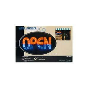 New Green Light Innovations 13 X 21 Animated Led Open Store Window Sign
