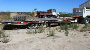 1995 Zieman 27 Tilt Trailer For Heavy Equipment