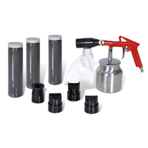 Tool Assistence Spray Air Sand Blasting Kit 3 Bottles And 4 Nozzles