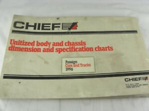 Mitchell Chief 1996 Foreign Car Truck Body Chassis Dimension Spec Chart