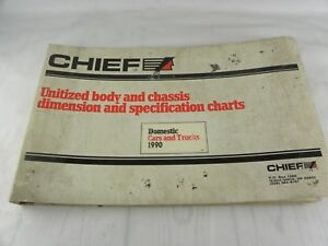 Mitchell Chief 1990 Domestic Car Truck Body Chassis Dimension Spec Chart