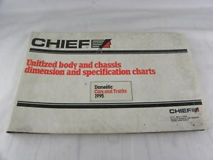 Mitchell Chief 1995 Domestic Car Truck Body Chassis Dimension Spec Chart